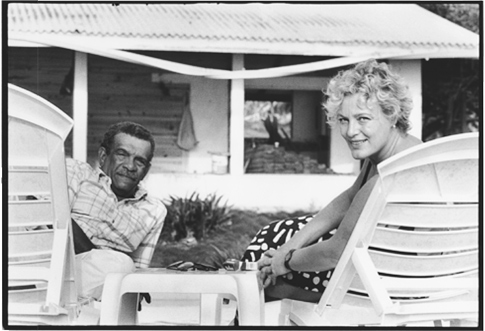 Derek Walcott and Sigrid Nama